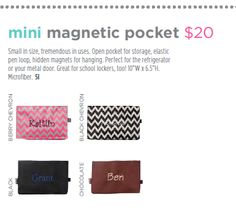Small in size, tremendous in uses. Mini Magnetic Pocket. Page 43 http://initials-inc.com/ @initials,inc #iispring