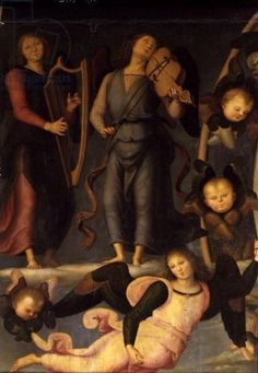 Vallombrosa Altarpiece, detail of Angel Musicians