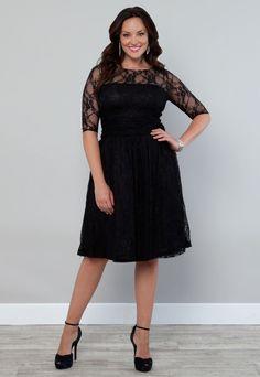 Plus size black party dresses uk