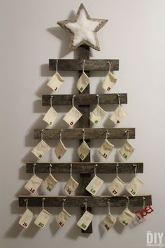 Mounted on your wall, all eyes will be on this countdown tree that doubles as rustic decor.  Get the tutorial at The DIY Dreamer.    - CountryLiving.com