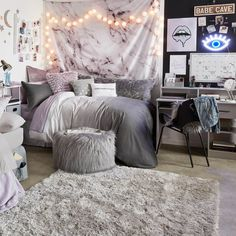 Grey ombre duvet cover and sham set– dormify. grey ombre duvet cover and sham set– dormify bedroom ideas for women in their visit Cute Bedroom Ideas, Room Ideas Bedroom, Teen Bedroom, Girl Bedrooms, Master Bedroom, Bed Room, Modern Bedroom, Bedroom Wall, Romantic Bedroom Design
