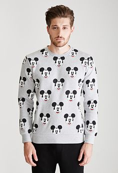 Mickey Mouse Print Sweatshirt | 21 MEN - 2000117405