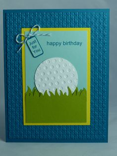 Cute birthday card for a guy golf themed easy to make with scraps stampin up handmade greeting card happy birthday card golf golfing golfer golf club doctor man mens womens ball just for you gift bookmarktalkfo Choice Image