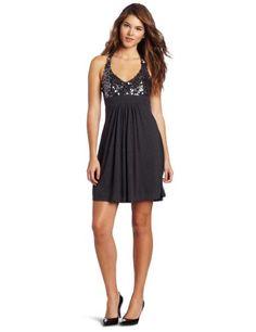 Wrapper Juniors Sequins Halter Dress, Charcoal, Medium/8 | Traveling Of Life