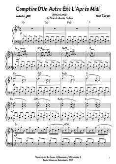 Comptine d'un Autre Été - L'Après Midi - Yann Tiersen - Long version   MuseScore
