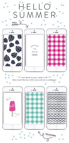 hello summer tech wallpapers // raeannkelly.com #raeannkellypins #rakpinparty