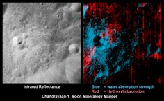 Recently processed data shows NASA that there is water on the moon. Not only that, it indicates that there is water underneath the lunar surface.