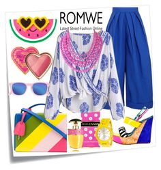 """""""Romwe"""" by emmmy88 ❤ liked on Polyvore featuring Post-It, Mark Cross, Prada, Delpozo, Kim Kwang, Humble Chic and Too Faced Cosmetics"""