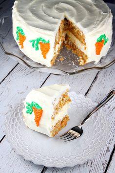 Carrot Cake Cheesecake Cake - RecipeGirl.com