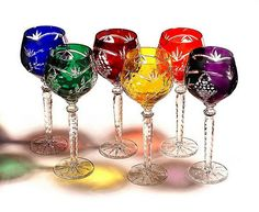 colorful stemware   ... Crystal Gifts, Stemware, Vases, Rare Colors, European Quality