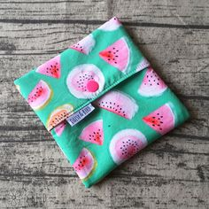 Mini Wet Bag / Pad Wrapper – Melon | Cloth Pad Shop Cloth Pads, Wet Bag, Make Your Own, Daisy, Coin Purse, Bird, Wallet, Sewing, Business