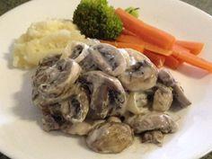 Steak with Creamy Mushroom Sauce |