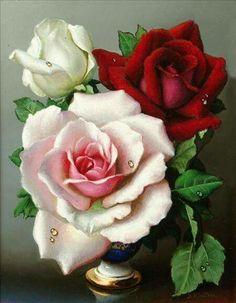 jpg) The post dreamies.jpg) appeared first on Blumen ideen. Beautiful Rose Flowers, Amazing Flowers, Art Floral, Flower Vases, Flower Art, Three Roses, Beautiful Paintings, Watercolor Flowers, Decoration