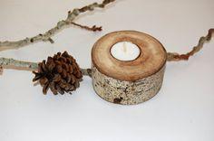 Rustic Candle Holder, Aspen Wood, Tree Knot, Tea Light, Wedding Centerpiece, Rustic Wedding Decor, Destination Wedding, Keepsake Gift