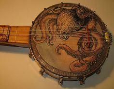 Lena Yeagle here is a new canvas; octopus banjo - holy crap this is cool..!