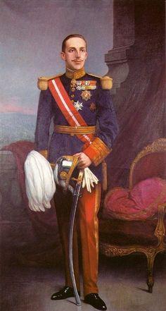 Retrato de Alfonso XIII. Obra de Adelardo Covarsí Meyustas