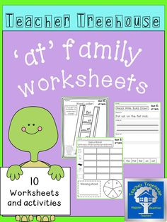 Ten different 'at' family worksheets and simple activities to keep students engaged while learning. Great for morning work, centers, interventions, and homework!