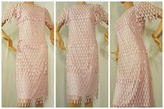 Lace Dress by Samax in Pink Teardrop Lace Tiered by AtomicPhenomic