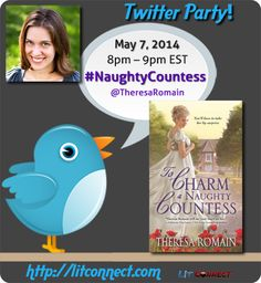What better way to get to know a book and author then by asking them live questions! @TheresaRomain #NaughtyCountess 5/7 8-9pm EDT