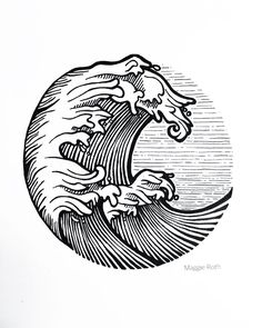 Picture result for line art of smooth sea old school tattoo - # old . Picture result for line Pixel Tattoo, Trendy Tattoos, New Tattoos, Tatoos, Water Tattoos, Surf Kunst, Modern Tattoo Designs, Surf Tattoo, Tattoo Wave
