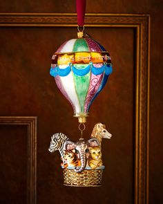 Baby\'s First Christmas - Hot Air Balloon Ornament by Jay Strongwater at Neiman Marcus.