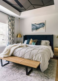 Home, guest bedroom office, master bedroom design, bachelor pad bedroom, mo Master Bedrooms Decor, Bedroom Decor, Apartment Decor, Small Master Bedroom, Home, Small Bedroom Ideas For Couples, Rustic Bedroom, Modern Bedroom, Home Decor