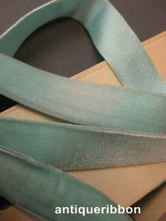 Vintage Pastel blue velvet ribbon w silk back Victorian 1 in wide aqua blue Cotton Velvet, Velvet Ribbon, Blue Velvet, Pastel Blue, Aqua Blue, Vintage Velvet, Grosgrain, Victorian, Silk