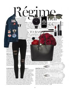 """Untitled #63"" by clodfever on Polyvore featuring Anja, Chicnova Fashion, Casetify, Ray-Ban, Christian Dior, Yves Saint Laurent, Olivia Burton, ChloBo, Smashbox and MAC Cosmetics"