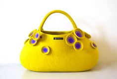 Sea aneone big bag  yellow by taneno on Etsy