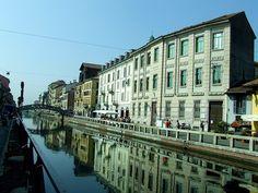 Naviglio Grande in Milan, Italy