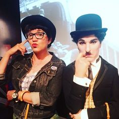 Even with the mustache Charlie Chaplin is more feminine than I am! #comedy #Hollywood #CharlieChaplin #comedian #writer #producer #Host #actress  #women4applause #women4acause #california #Losangeles #funtimes #onthemic