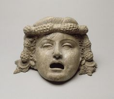 Classic Greek Theatre Masks | Tragic Mask of a Young Man, Terracotta, c. 150 B.C., Greece, Musée du ...