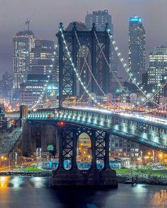 Manhattan Bridge   Credit: @obie_c.photography