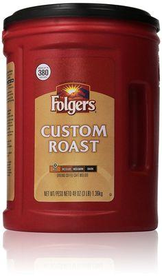 Folgers Custom Roast Ground Coffee - 48 oz. * Tried it! Love it! Click the image. : Fresh Groceries