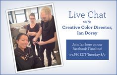 Join Ouidad Creative Color Director for a Live Facebook Chat tomorrow! www.Facebook.com/Ouidad