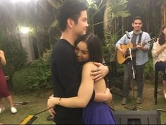 """Julia Barretto and Joshua Garcia slow dance to 'Beauty and the Beast' Guests at Julia Barretto's barbecue birthday bash were not able to hide their """"kilig"""" a. Julia Baretto, Joshua Garcia, Slow Dance, Pinoy, Brother, Couple Photos, Videos, Music, Youtube"""