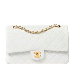 Chanel Classic Double Flap 26 White | 1stdibs.com #MothersDay