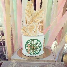 Gâteau Bohême, plumes, dreamcatcher