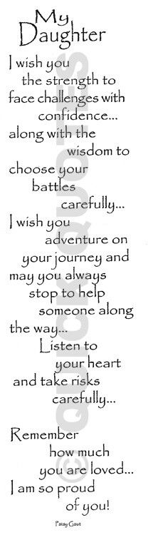 To both my sweethearts....