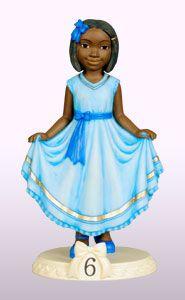 Ebony Birthday Girl Age 6 Product Description Figurine Dimension: 6″H