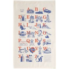 A-Z London tea towel