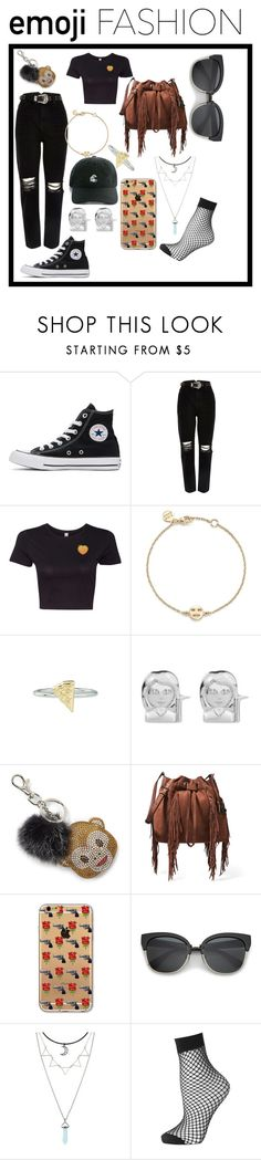 """EMOJI FASHION"" by sophielouisewilkinson ❤ liked on Polyvore featuring Converse, River Island, Bing Bang, Rock 'N Rose, Bari Lynn, Diane Von Furstenberg and Topshop"