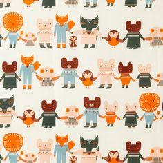 Telas de Donna Wilson - Patrones de animalitos (paseando juntos)