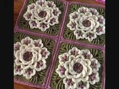 Diy Crafts - Image: EricaandEleanor This crochet pattern / tutorial is available for free. Crochet Flower Tutorial, Crochet Flower Patterns, Afghan Crochet Patterns, Crochet Designs, Crochet Flowers, Crochet Stitches Free, Granny Square Crochet Pattern, Crochet Squares, Diy Crafts Images