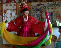 In contemporary Korea, shamanism is known as muism and a shaman is known as a mudang (무당, 巫堂).