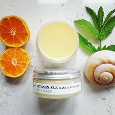 Struggling in the heat? Our top selling Mint & Orange multi-tasking Vitamin Sea Balm will cool and freshen, while keeping skin hydrated and protected. Shop at southseabathinghut.co.uk #naturalskincare #veganbeauty #cooling #handmade