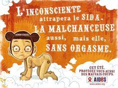 sida, condom (été, humour, santé sexuelle, France)