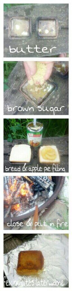 Camp fire hobo apple pies