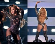 Beyoncé performing at the On The Run Tour wearing Michael Costello for the song 'Single Ladies (Put a Ring on It)'. Single Women, Single Ladies, Michael Costello, Bonnie Clyde, Lineup, Beyonce, Versace, Wonder Woman, Fashion Styles