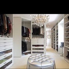 I don't have enough clothes to fill this walk-in closet up!
